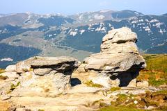 Stock Photo of Geomorphologic rocky structures in Bucegi Mountains, Romania