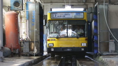 Trolley washing Stock Footage