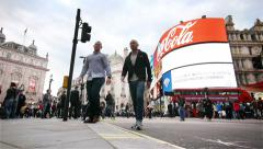 Piccadilly Circus, London, UK Stock Footage