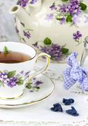 English afternoon tea - stock photo