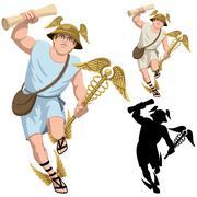 Hermes on White Stock Illustration