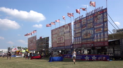 Ribfest At Woodstock, Ontario Canada Stock Footage