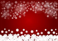 Red background with snowflakes vector Stock Illustration