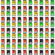 seamless texture map memory - stock illustration