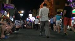 Timelapse of night life in Bagkok Stock Footage