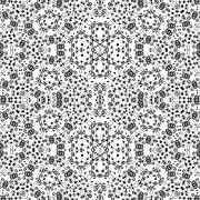 Abstract Seamless Floral Pattern - stock illustration