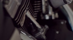 motorbike parts close up - stock footage