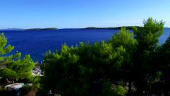 Beautiful Korcula island in the archipelago of Dubrovnik and Makarska Stock Footage