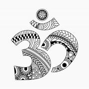 Stock Illustration of Zentangle style Aum symbol