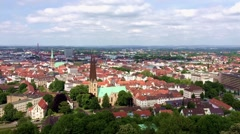 Old Rathause in the city. Panorama view. Stock Footage