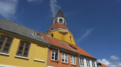 The Belfry - Faaborg Denmark Stock Footage
