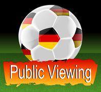 Public Viewing Stock Illustration