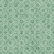 Pale Green Wheel of Dharma Symbol Tile Pattern Repeat Background - stock illustration
