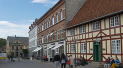 Old town - Faaborg Denmark Stock Footage