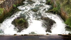 Waterfall in the city. Stock Footage