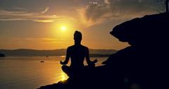 Sunset Meditation Stock Footage