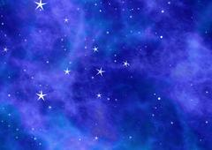 small stars in a sky on space clouds backgrounds - stock illustration