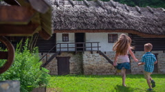 Beautiful countryside building Stock Footage