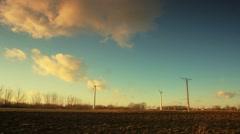 Windfarm time-lapse Stock Footage
