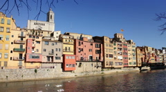 Girona city - Spain Stock Footage