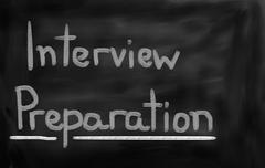Interview Preparation Concept Stock Illustration