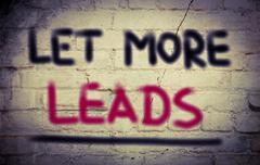 Let More Leads Concept Stock Illustration