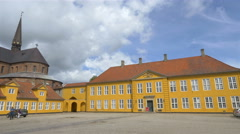 Roskilde Palace - The Museum of Contemporary Art - Roskilde Denmark Stock Footage