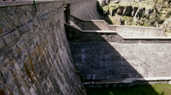 View of a dam on italian alps Stock Footage