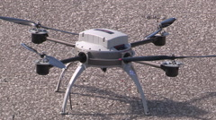 Drone with camera Stock Footage