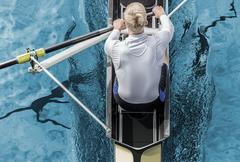Stock Photo of Rower top view
