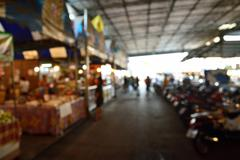 Blur or Defocus Background of Local or Traditional Market - stock photo