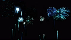 Firework Show Animation - Loop Blue Stock Footage