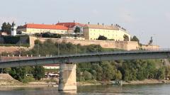 Petrovaradin fortress Novi Sad Serbia Stock Footage