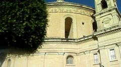 Church from La Valetta, Malta - stock footage