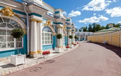 Catherine Palace - the summer residence of the Russian tsars Stock Photos