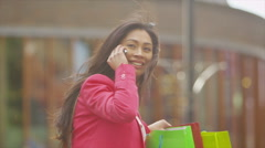 Attractive Asian female friends meet up in the city. - stock footage