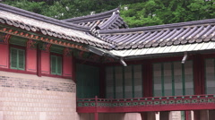 Changdeokgung Palace Building South Korea Close Up Stock Footage
