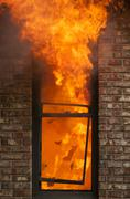 Home Fire - stock photo