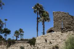 Caesarea Harbor - stock photo