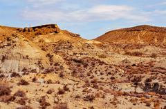 desert of Tabernas, in Almeria, Spain - stock photo