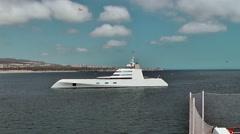 Luxury yacht Stock Footage
