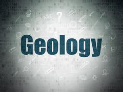 Stock Illustration of Studying concept: Geology on Digital Paper background