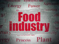 Industry concept: Food Industry on Digital Paper background Stock Illustration