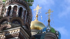 Church Of The Savior On The Spilled Blood, St. Petersburg, Russia (Timelapse) - stock footage