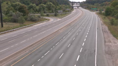 Empty highway with no cars on it. Stock Footage