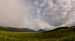 Timelapse of rain and rainbow in Iceland Stock Footage