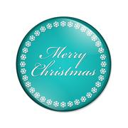 Merry Christmas Button - stock illustration