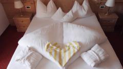 Honeymoon hotel suite Stock Footage
