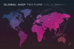 World vector map globe Earth texture Piirros