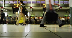Pedestrian in hurry at Shinagawa Station in Time Lapse - stock footage
